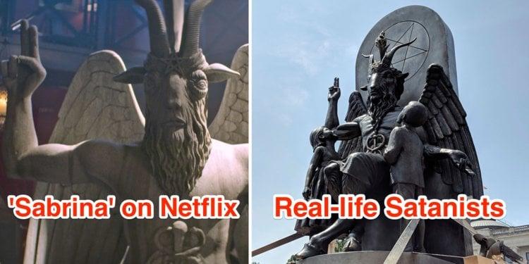 statue baphomet sabrina proces serie netflix