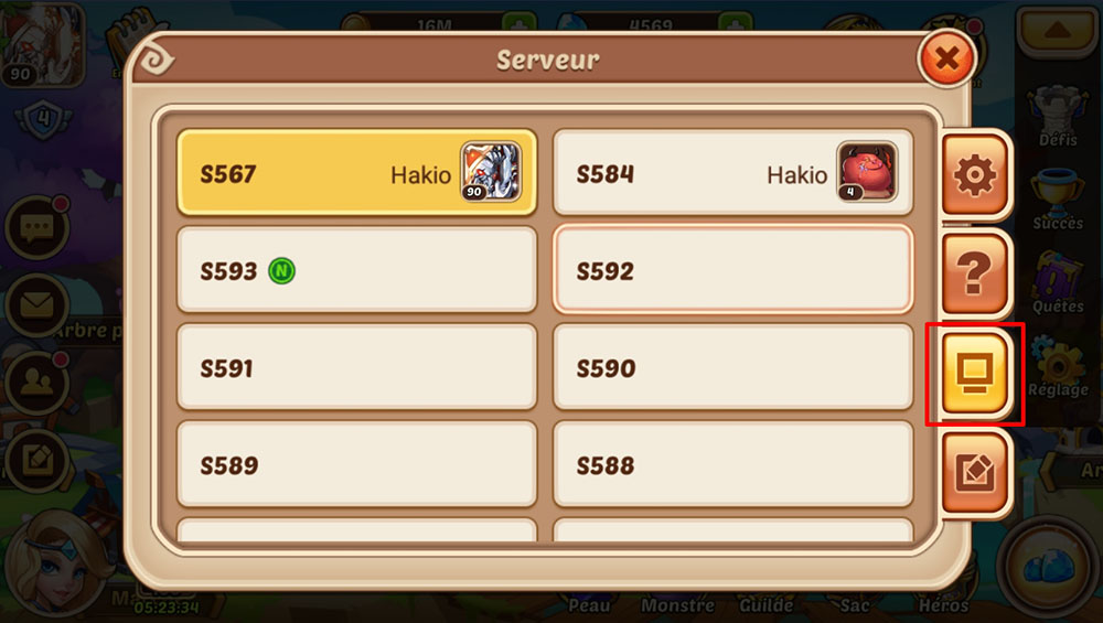 switch serveur idle heroes