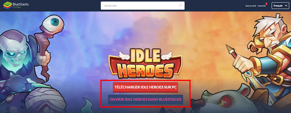télécharger émulateur idle heroes pc