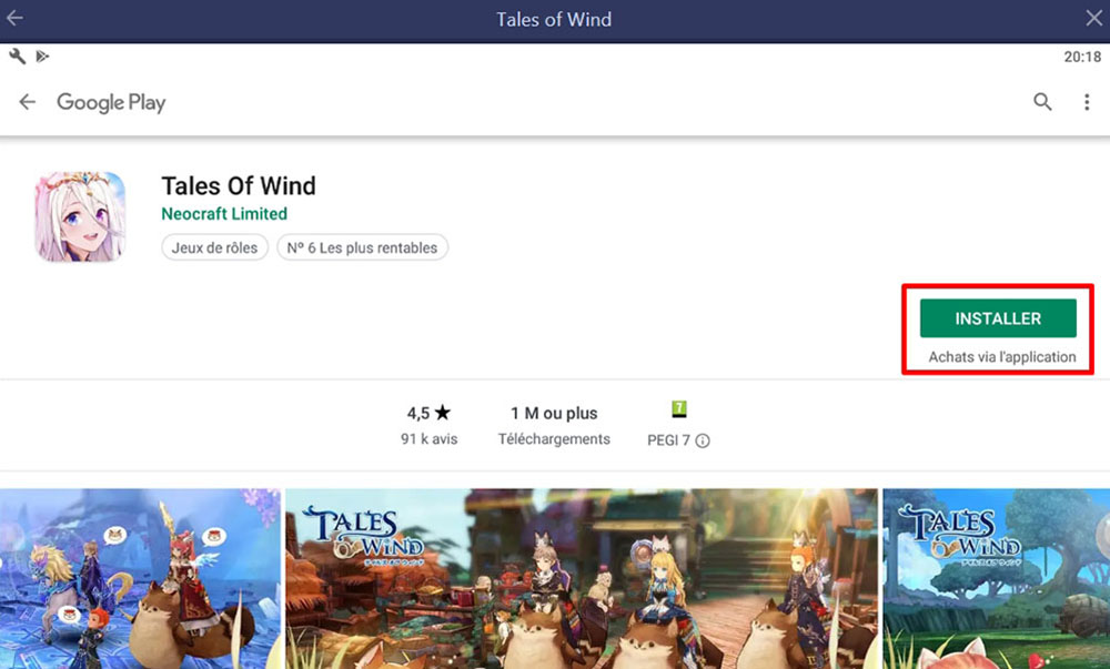 télécharger tales of wind sur pc