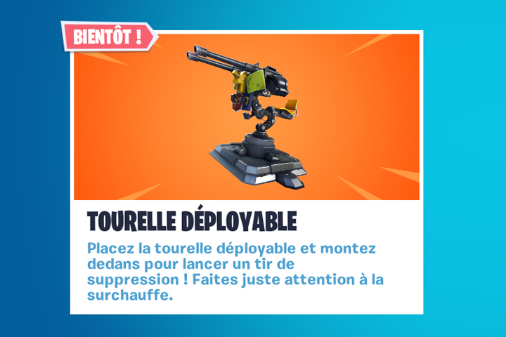 Fortnite tourelle déployable