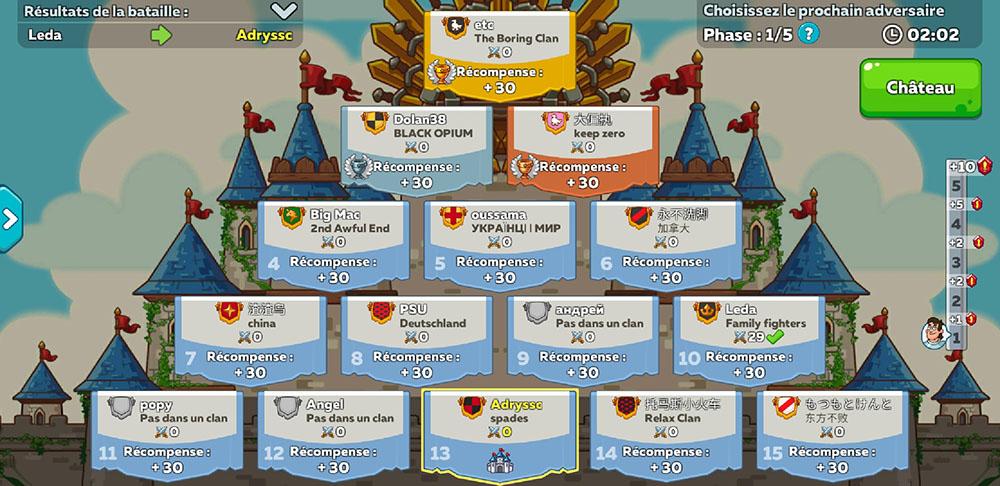 tournois hustle castle